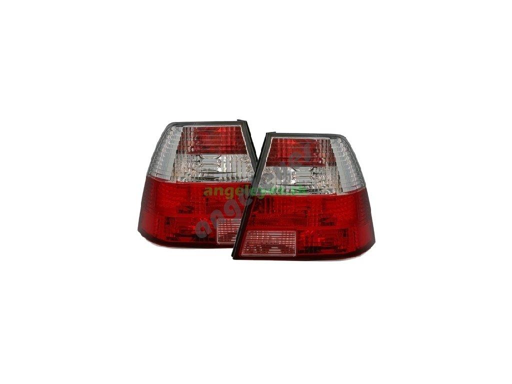 VW Bora zadné svetlá červeno-biele