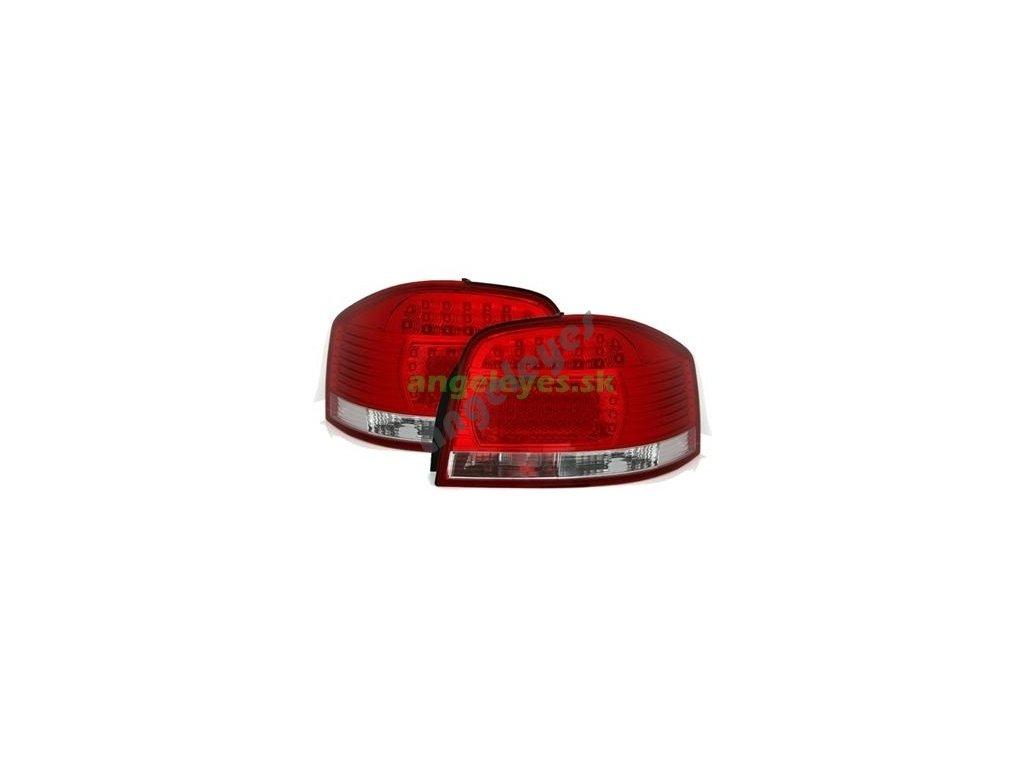 Zadné svetlá pre Audi A3 červeno-biele