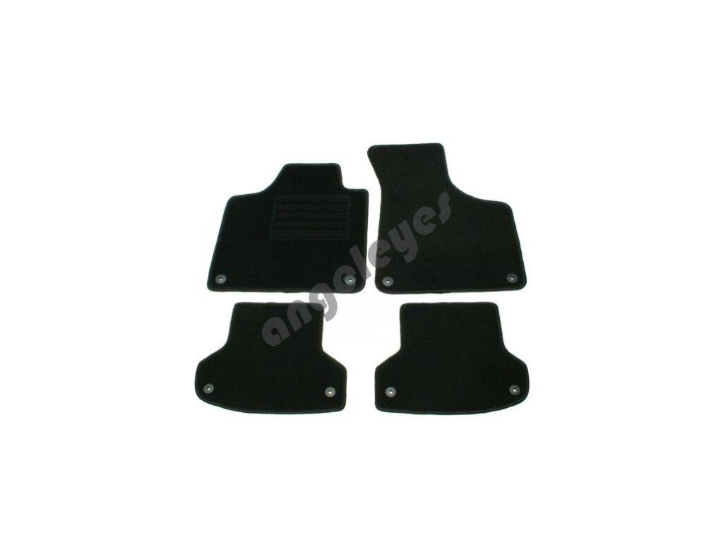 Čierne koberce Audi A3 8P , 8PA Sportback