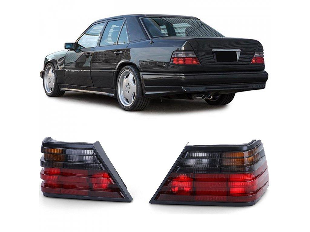 Mercedes W124 zadne červeno - čierne svetla, rv. 85-95