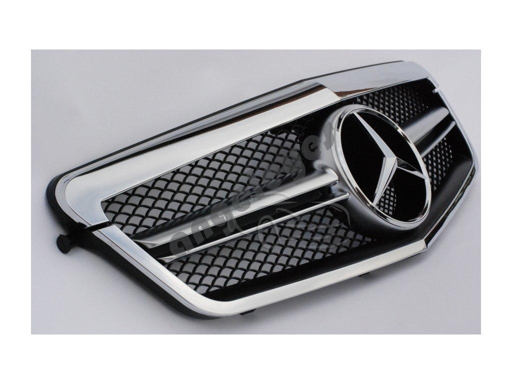 Predná maska pre Mercedes W212 s chrómovým rámikom