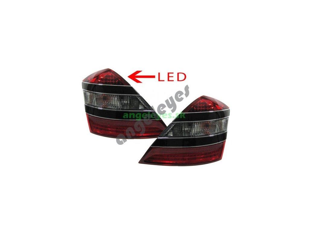 Mercedes S W221 zadné LED svetlá, červeno - číre, rv. 05-3/09