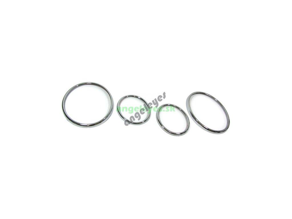 Chrómové krúžky pre predné svetlá W210