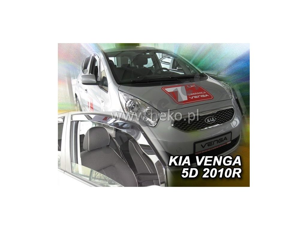 Deflektory na okná pre Kia Venga, 2ks