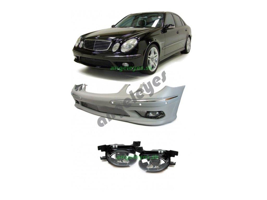 Mercedes W211 predný nárazník E55 AMG pre parkovací systém s...