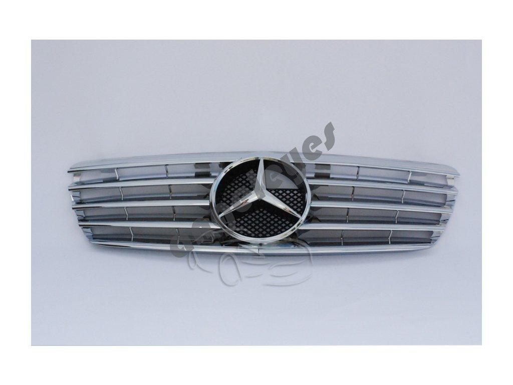 Predná maska pre Mercedes W211 chrómová so znakom