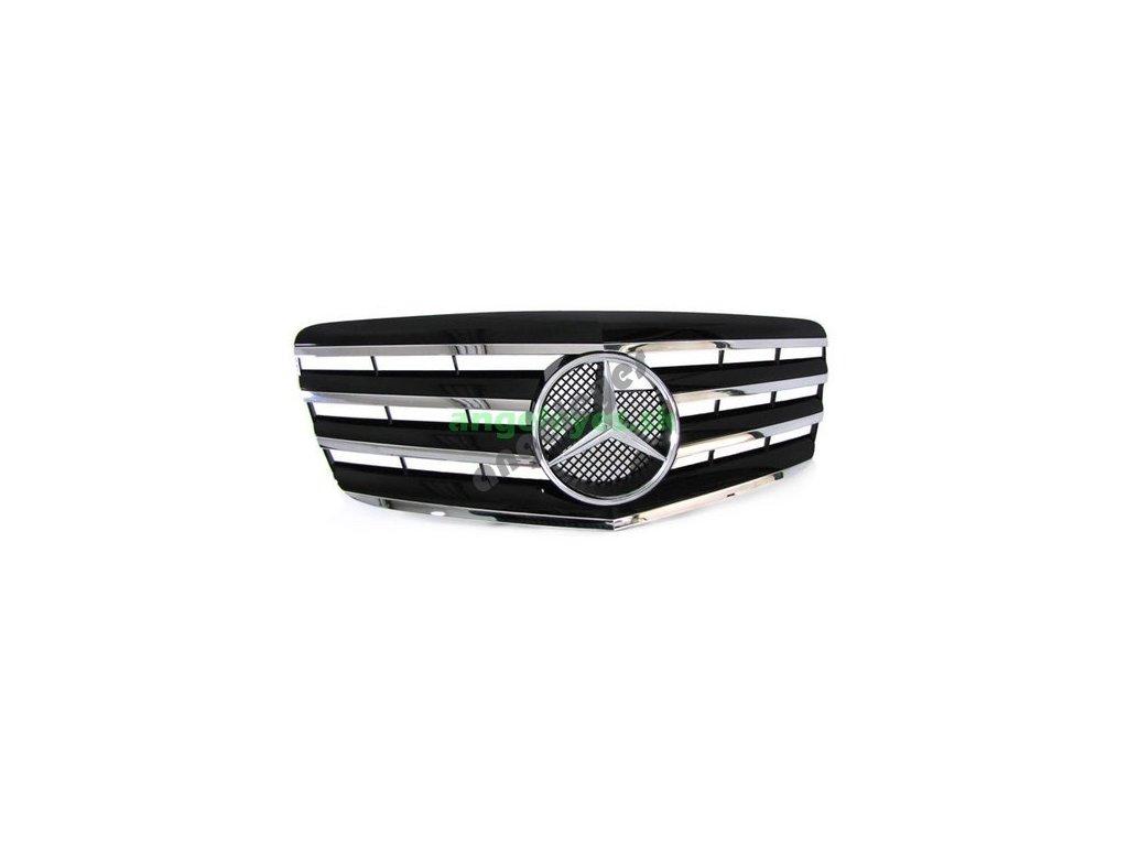 Mercedes W211 predná čierna maska so znakom, rv. 06-09