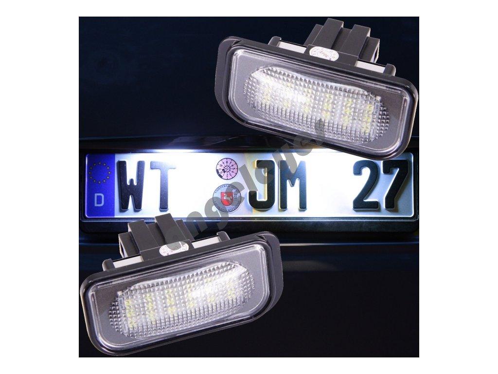 LED osvetlenie ŠPZ pre Mercedes C W203 sedan