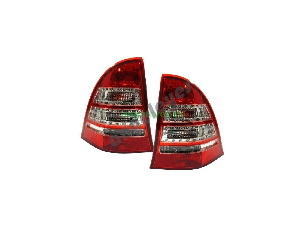 Mercedes W203 C Kombi zadné červeno - číre svetlá, rv. 00-04