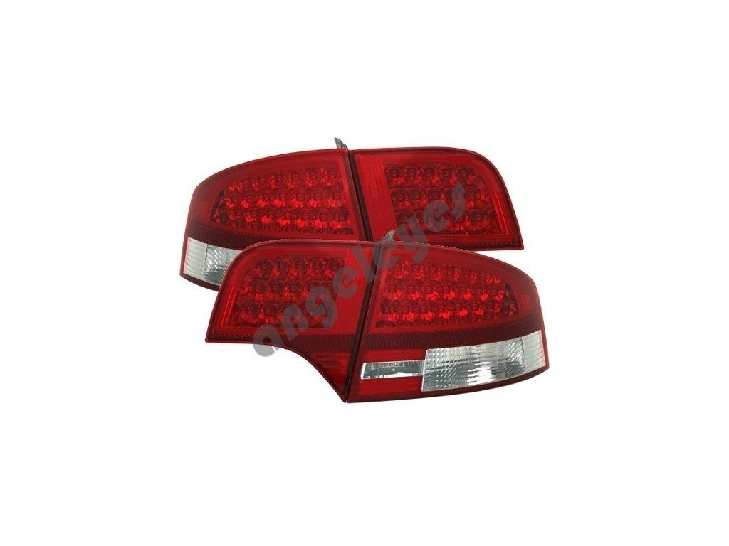 Zadné svetlá Audi A4 limuzína červeno-biele