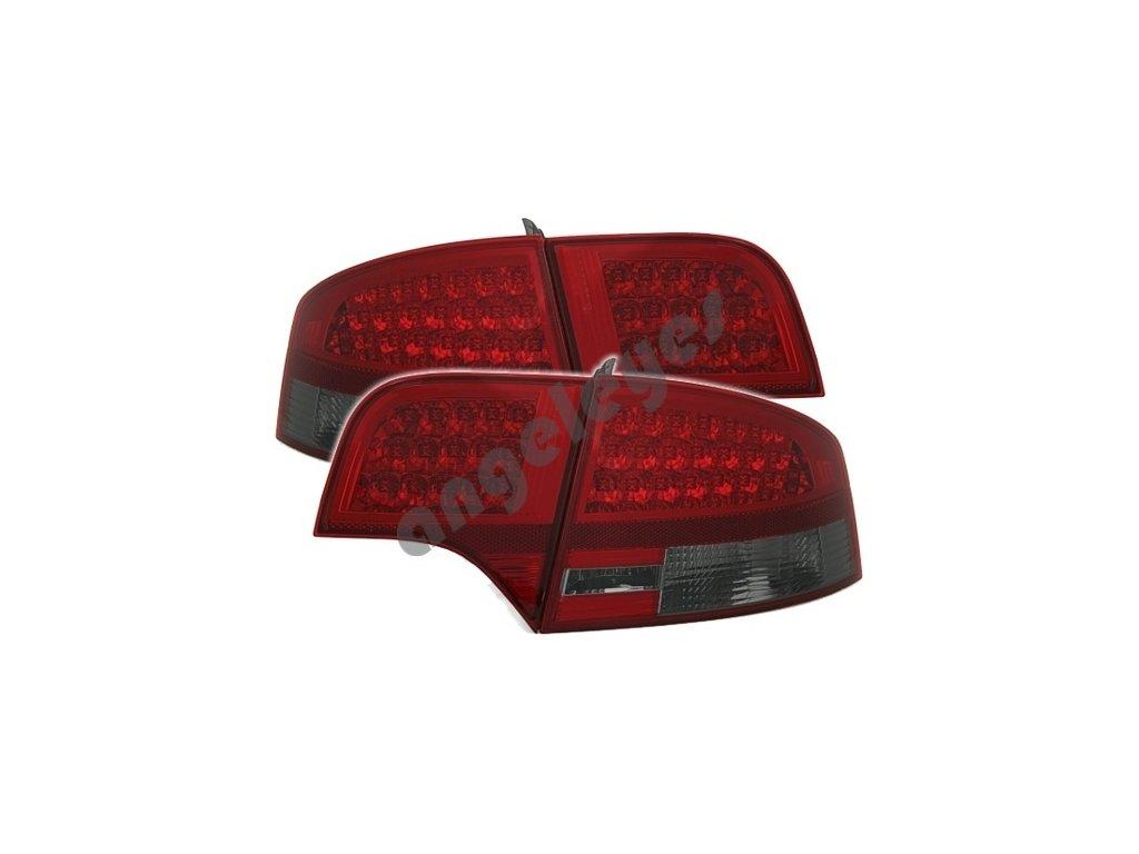 Zadné svetlá Audi A4 limuzína červeno-čierne