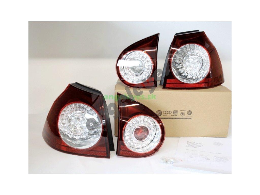 Golf 5 zatmavené originál LED svetlá R32,R-Line
