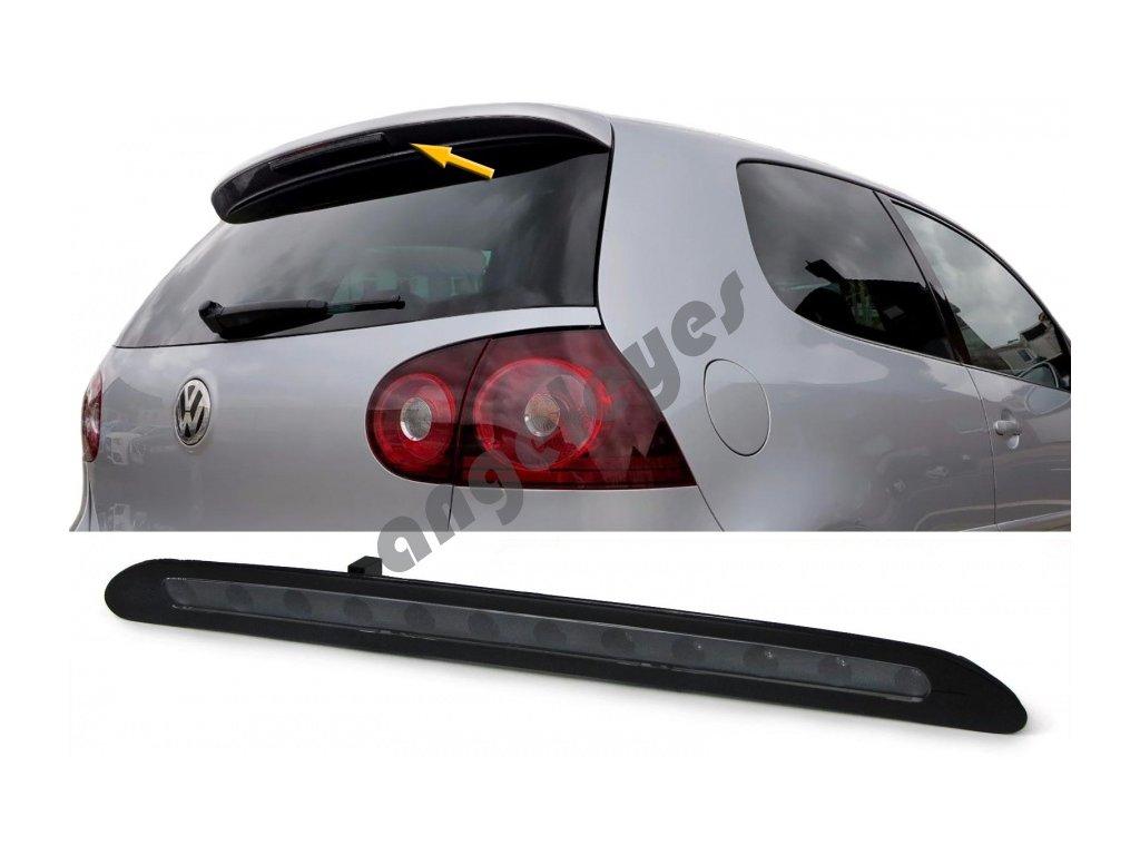 VW Golf 5 tretie brzdové LED svetlo čierne