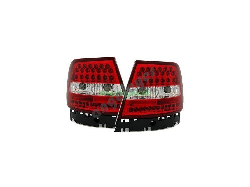 Audi A4 B5 zadné LED červeno-biele svetlá, rv. 94-00