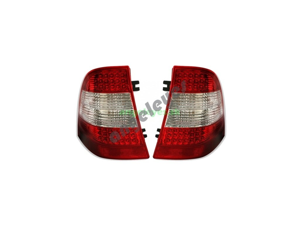 W163 zadné červeno-biele LED