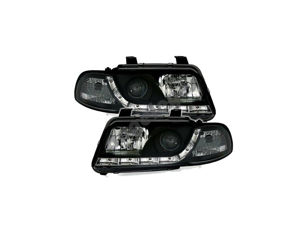 Audi A4 94-99 predná svetlá Devil Eyes čierne
