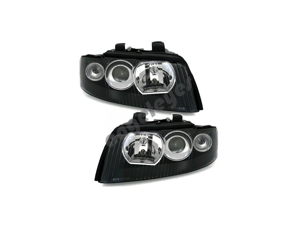 Predné čierne xenón svetlá pre Audi A4 8E, rv. 00-04