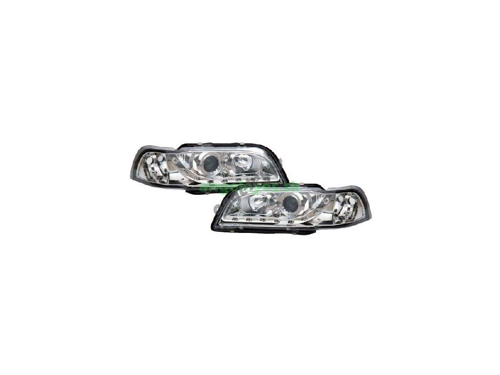 Volvo V40, S40 predné chrómové svetlá s LED pásom