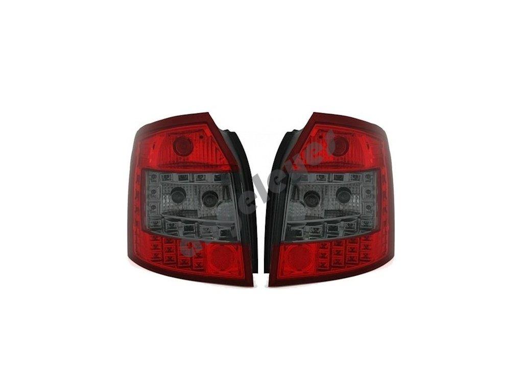 Zadné svetlá LED červeno čierne A4 B6 00-04 Avant