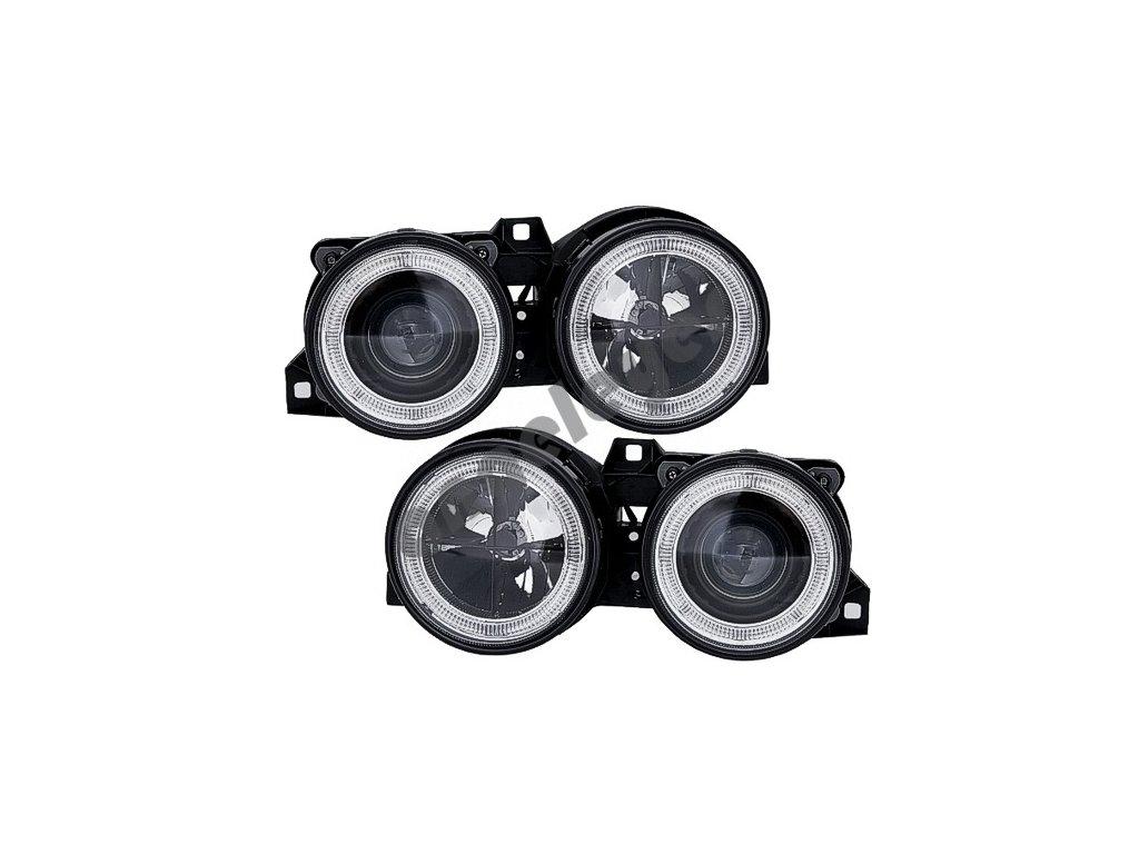 BMW E30 predné čierne svetlá Angel Eyes