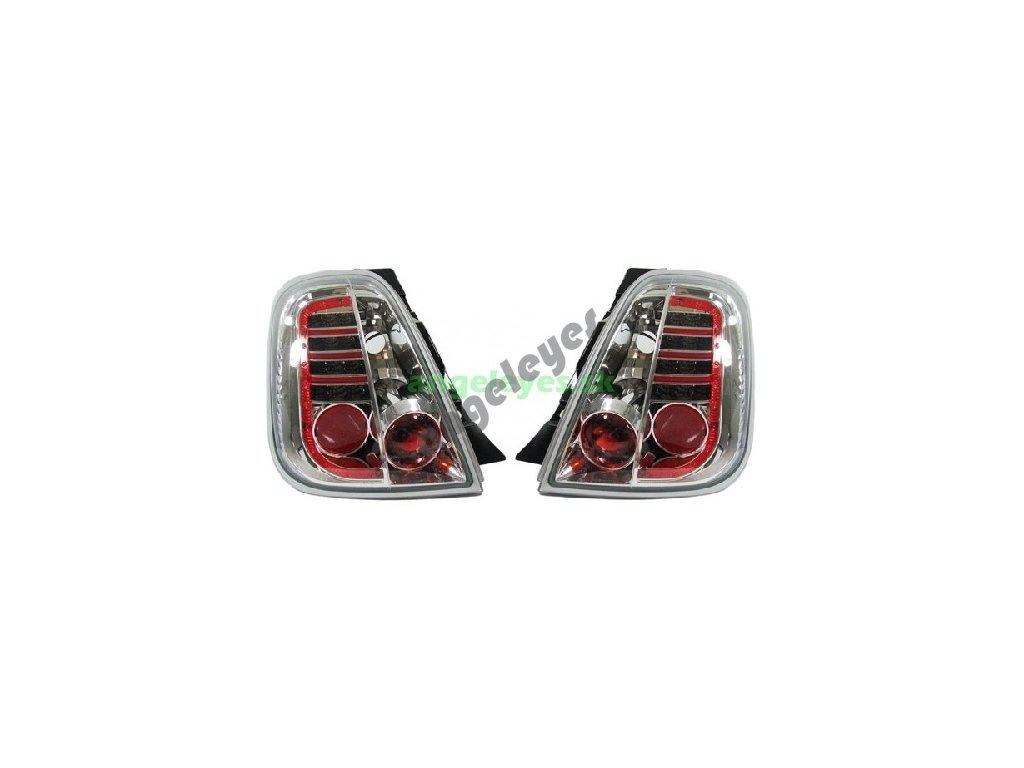 Fiat 500 zadné LED svetlá chróm