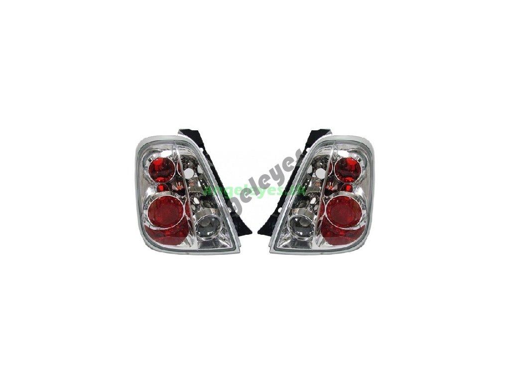 Fiat 500 zadné svetlá chróm