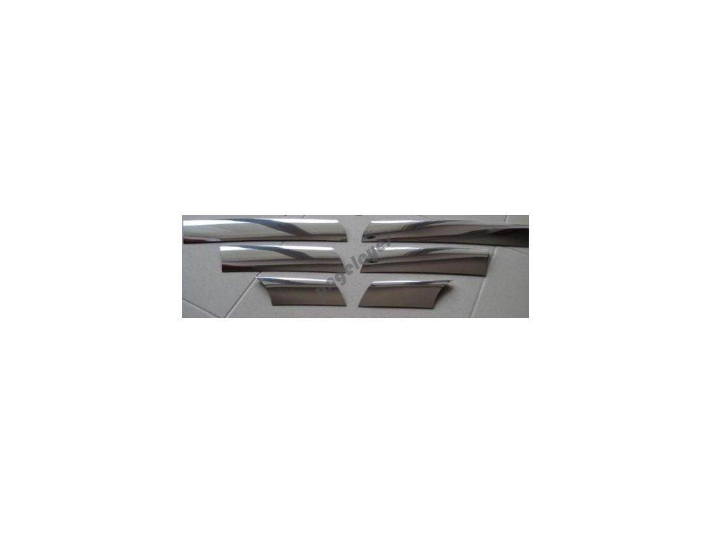 Chrómové lišty na masku pre Dacia Logan