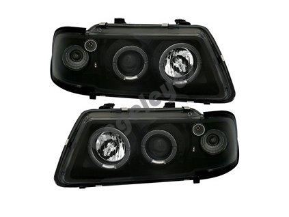 Audi A3 predné číre čierne svetlá angel eyes rv. 96-00
