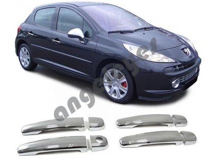 Chrómové kryty kľučiek Peugeot