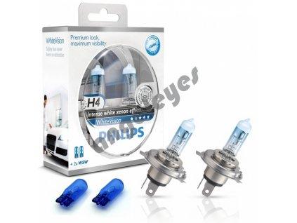 Žiarovky Philips H4 ColorVisionWhite 12V 60/55W, 2 kusy