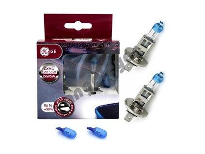 GE H1 MegaLight Ultra +90% 12V 55W+W5W