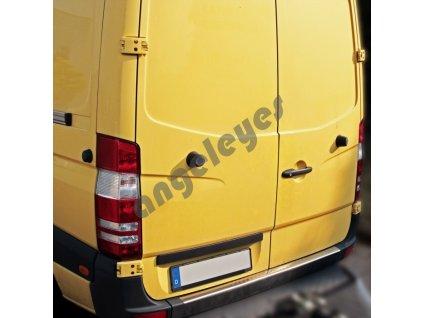 Nerezová ochrana nárazníka matná Mercedes Sprinter, VW Crafter