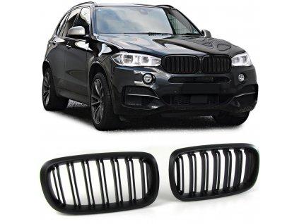 BMW X5 F15, X6 F16 športová čierna matná maska s dvojitými...