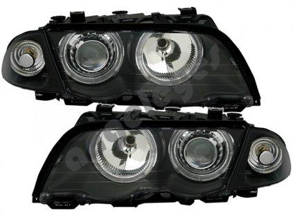 BMW E46 limuzína číre čierne svetlá Angel Eyes 98-01