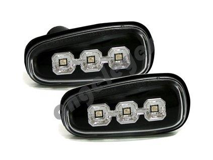 Bočné LED smerovky čierne Opel