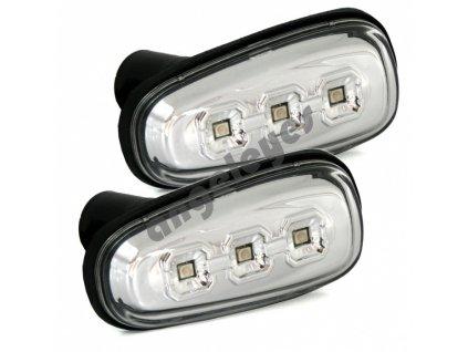 Bočné LED smerovky číre chrómové Opel Astra G, Zafira A