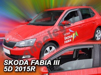 Deflektory na okná pre Škoda Fabia 3, 2ks