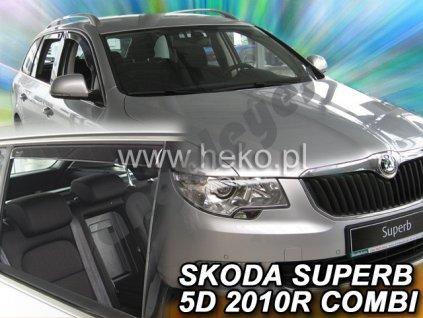 Deflektory na okná pre Škoda Superb 2 Combi, 4ks