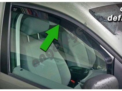 Deflektory na okná pre Citroen C1/Peugeot 107, 4ks