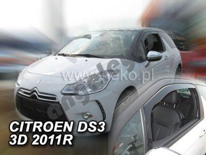 Deflektory na okná pre Citroen DS3, 2ks