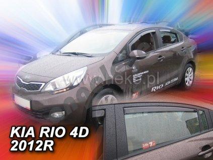 Deflektory na okná pre Kia Rio Sedan, 4ks