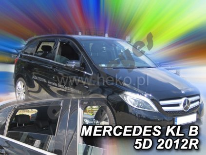 Deflektory na okná pre Mercedes B W246, 4ks