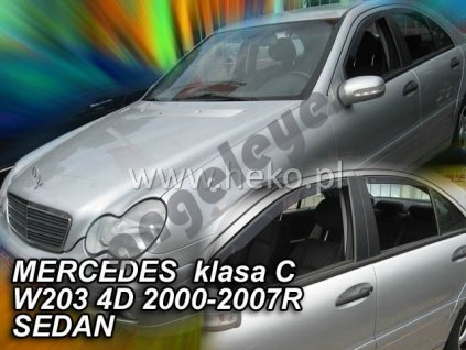 Deflektory na okná pre Mercedes C W203, 4ks