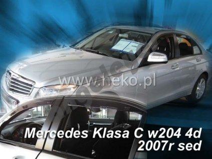Deflektory na okná pre Mercedes C W204, 4ks