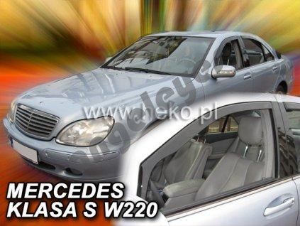 Deflektory na okná pre Mercedes S W220, 4ks