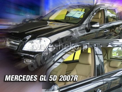 Deflektory na okná pre Mercedes GL X164, 4ks