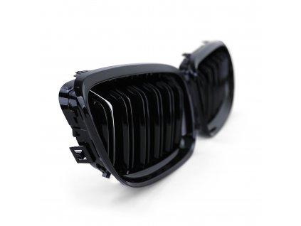 BMW E90, E91 športová čierna maska s dvojitými mriežkami, lesklá