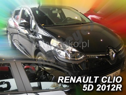 Deflektory na okná pre Renault Clio 4, 4ks