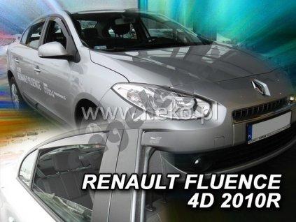 Deflektory na okná pre Renault Fluence, 4ks