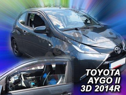 Deflektory na okná pre Toyota Aygo 2-3dv, 2ks